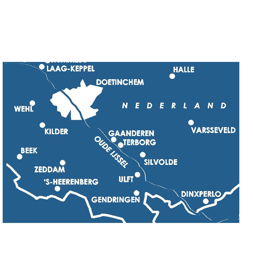 Huisartsenzorg Het werkgebied in de regio Achterhoek