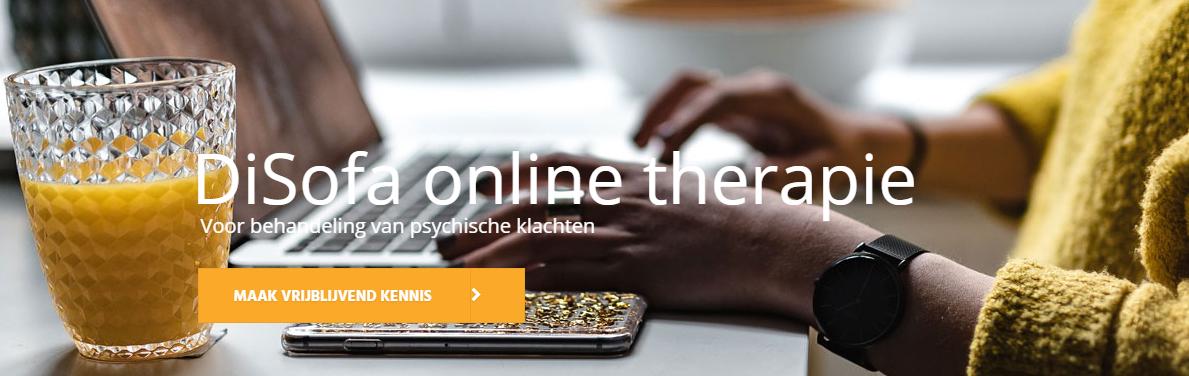 DiSofa online therapie. Mensen met psychische problemen kunnen terecht bij DiSofa, dat de behandeling volledig online aanbiedt.