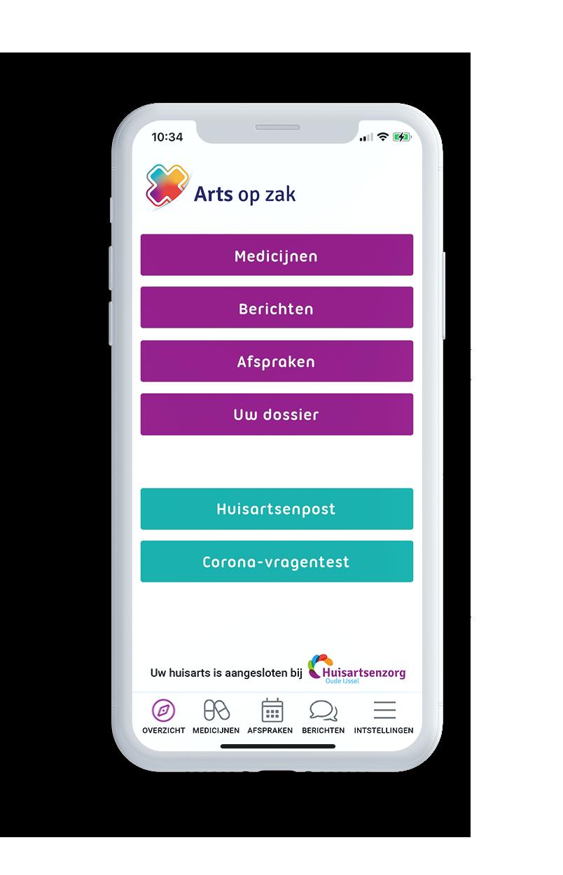 Arts op zak App op uw smartphone